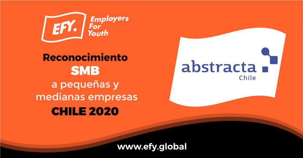 Abstracta Chile entre las mejores empresas para Jóvenes Profesionales en 2020, por Employers for Youth de FirstJob en su séptima edición