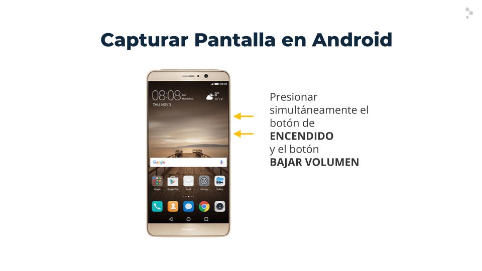 ¿Cómo hacer capturas de pantalla en teléfonos Android?
