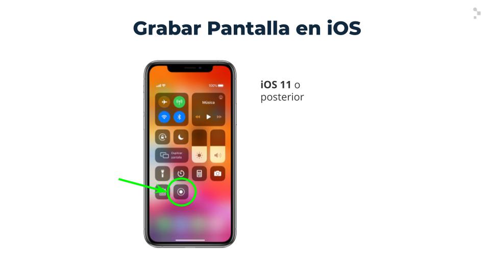 ¿Cómo grabar pantalla en teléfonos iOS?