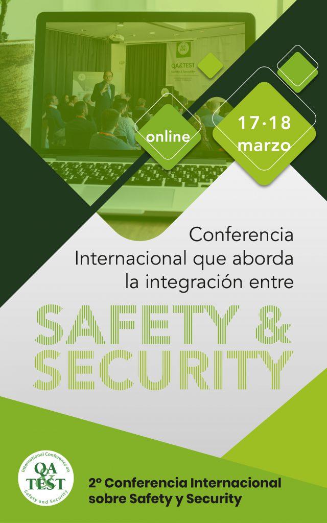 La 2ª edición de QA&TEST Safety and Security se realizará el 17 y 18 de Marzo de 2021 en modalidad online