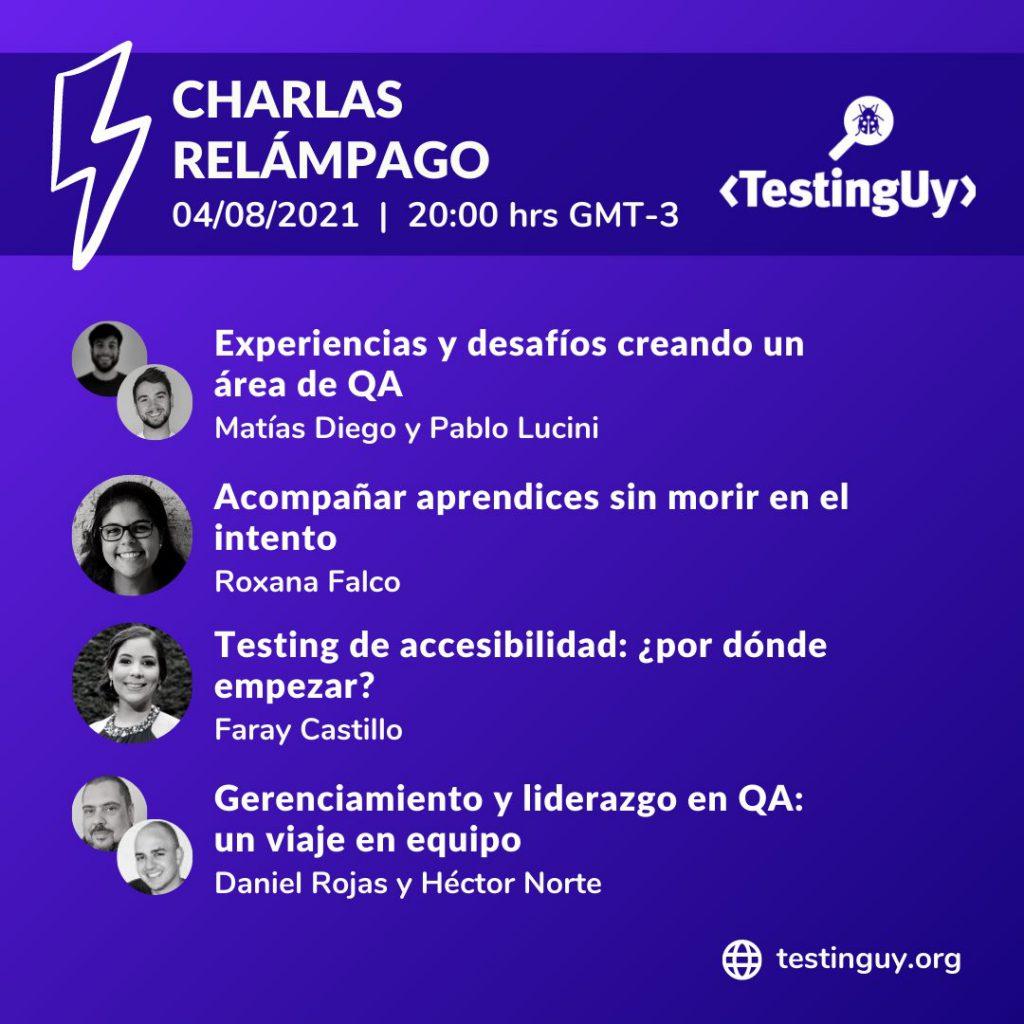 Charlas relámpago en TestingUy 2021